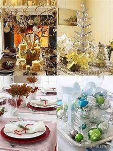 Modern, Christmas, Table, Decorations