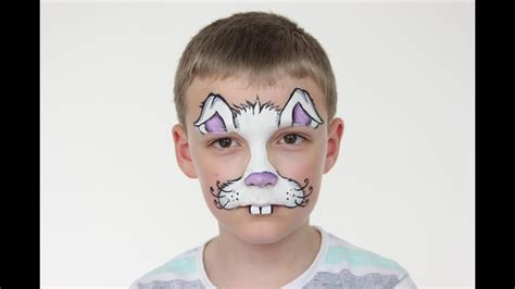 easter bunny face paint tutorial rabbit face paint