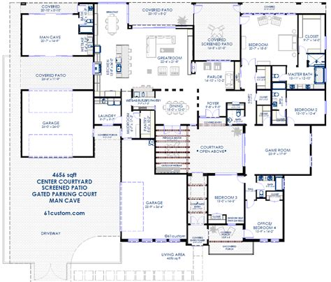 floor plans with courtyard contemporary courtyard house plan