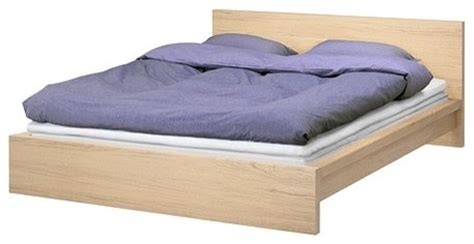 malm bed frame white stained oak scandinavian beds