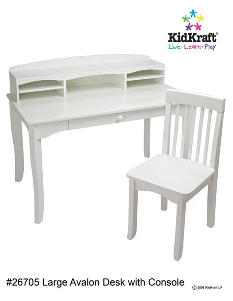 kidkraft avalon desk and chair in white kidkraft avalon desk with hutch and chair white for sale