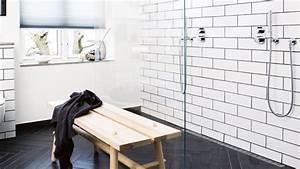 Carreau Metro Blanc : mod le carrelage salle de bain noir et blanc 25 d cors o respire la classe ~ Preciouscoupons.com Idées de Décoration
