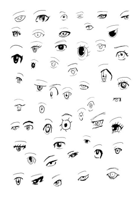 deep eyes template anime eye poses coloring pages