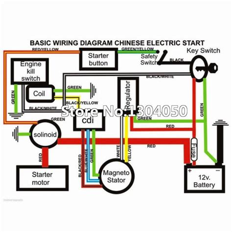 200cc 250cc electrics wiring harness cdi coil