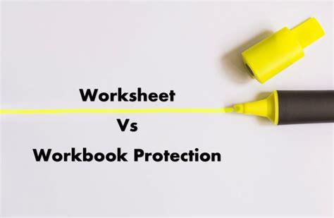 excel protection explained worksheet  workbook level