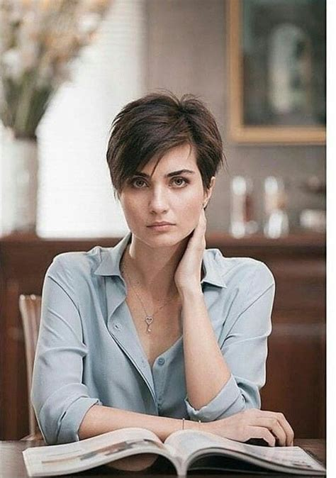 tuba buyukustun hair models short haircuts