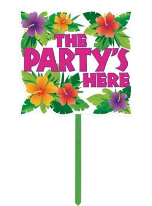 summer party yard sign    party city