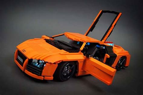 awesome rc audi   supercar built  lego bricks
