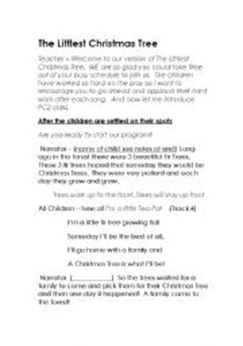 the littlest christmas tree play with editable program