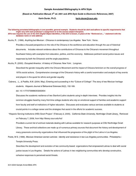 Apa Style Resume by Apa Annotated Bibliography Exle Search Writing Estheticians Sle