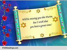 Missing You This Purim! Free Purim eCards, Greeting Cards