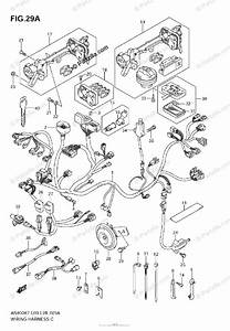 Suzuki Scooter 2009 Oem Parts Diagram For Wiring Harness