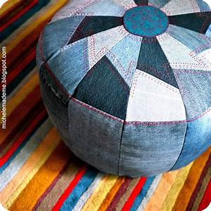 Pouf Selber Machen : 35 clever projects from old denim jeans ~ Michelbontemps.com Haus und Dekorationen