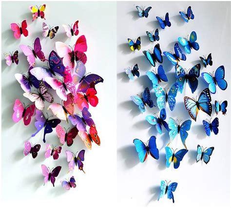 vlinders blauw muurstickerszo