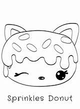 Donut Coloring Pages Num Noms Kawaii Cute Sprinkles Donuts Food Cat Sprinkle Series Sketch Printable Sheets Toys Bestcoloringpagesforkids Print Drawings sketch template