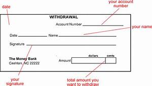 May bank withdraw slip for Withdrawal slip template