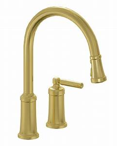 Unlacquered brass kitchen faucet for residential pro for Unlacquered brass kitchen faucet