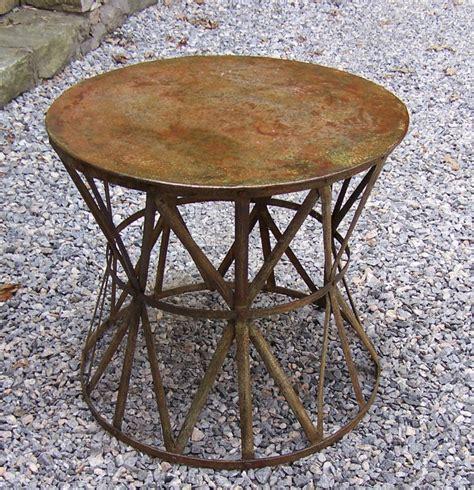 vintage metal tables 9252 vintage metal patio table with weathered 3247
