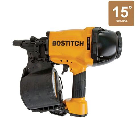 bostitch floor nailer home depot bostitch 15 degree high power coil framing nailer n89c 1