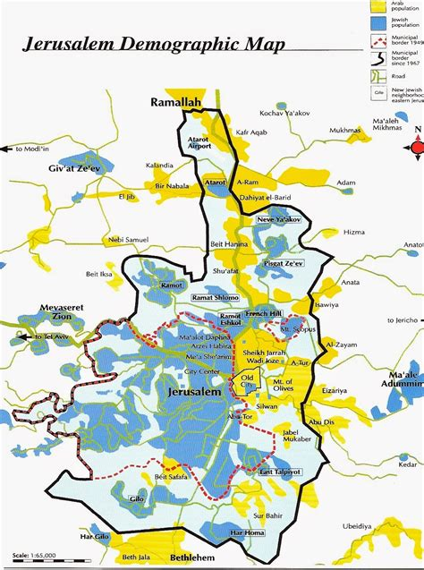 map  jerusalem  printable maps