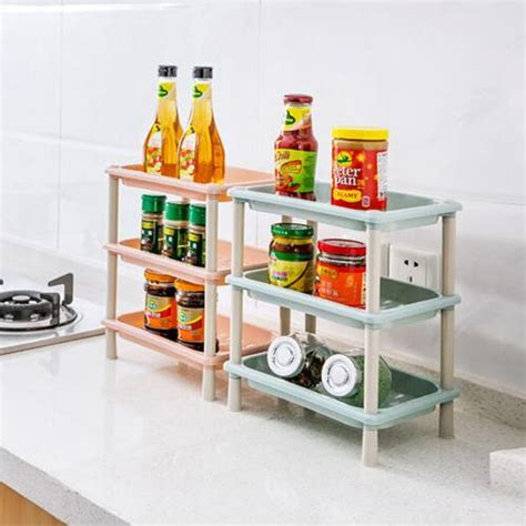 3 Tier Plastic Corner Shelf Unit Organizer Cabinet