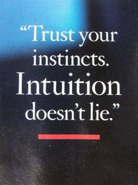 Always Trust Your Intuition Quotes