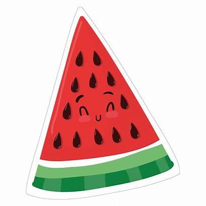 Watermelon Transparent Clipart Cartoon Object Kawaii Triangular