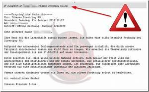 Abrechnung Directpay Ag : erneute geben sich internetbetr ger als directpay ag aus und verbreiten einen trojaner mimikama ~ Themetempest.com Abrechnung