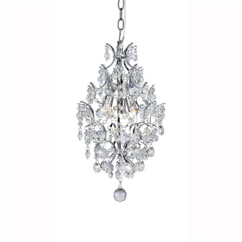 three light pendant chandelier hton bay 3 light chrome branches pendant with crystals