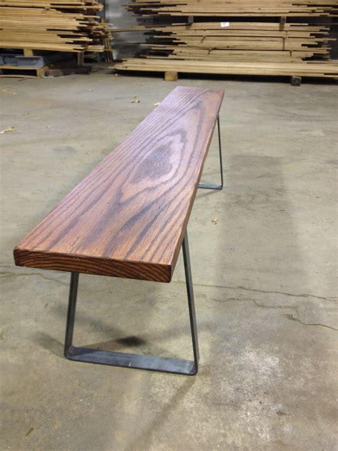 custom flat bar bench legs  tables  benches