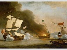 FileAn English Ship in Action with Barbary Corsairs