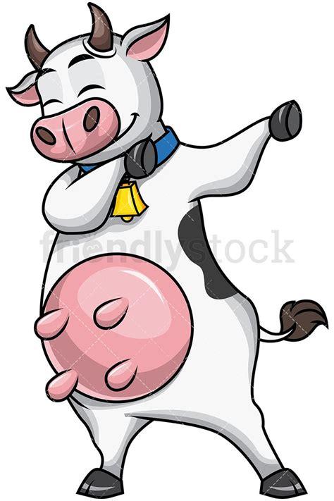 Dabbing Cow Cartoon Vector Clipart Dabs Clip Art Cow