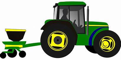 Tractor Clipart Planter Clip Animated Planting Corn