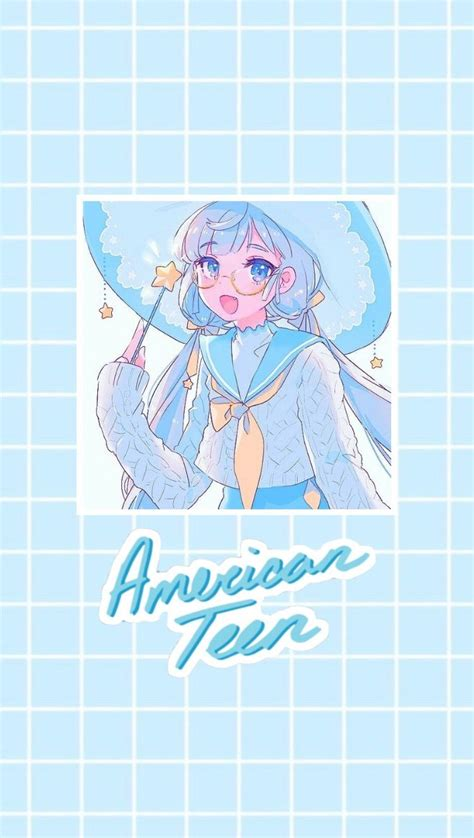 aesthetic light blue anime wallpaper