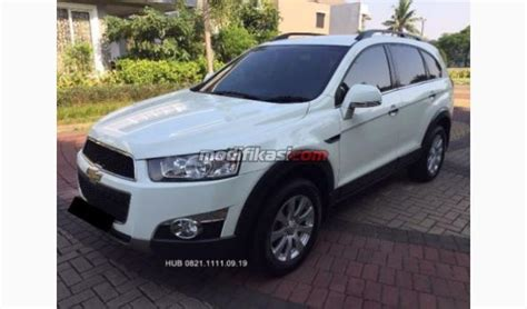 Modifikasi Chevrolet Captiva Diesel by Jual 2013 Chevrolet Captiva Diesel White Pearl Persis Baru