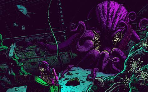 Download Wallpaper 2560x1600 Octopus Underwater World Art Treasures Widescreen 1610 Hd