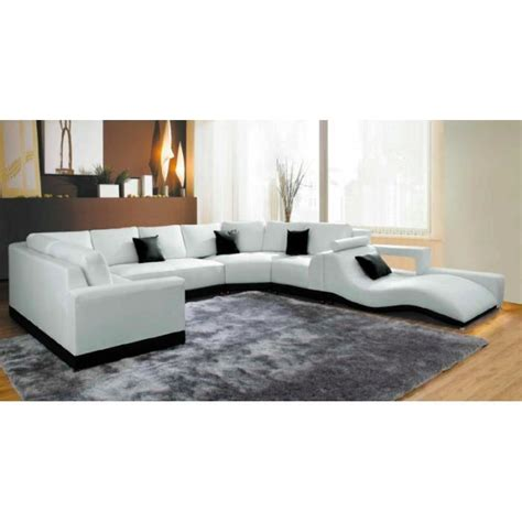 canapé d angle blanc cuir canapé d 39 angle panoramique cuir blanc méridienne achat