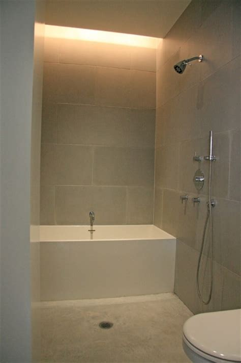 concrete wall panels and bathroom floor modern tile new york by concrete shop