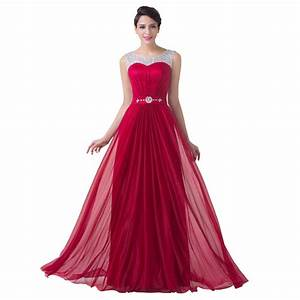 burgundy red bridesmaid dress beaded chiffon a line formal With formal long dresses for weddings