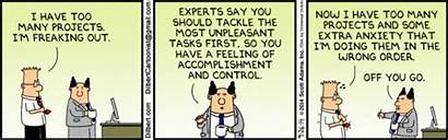 Dilbert Too Many Projects Comic Stress Having