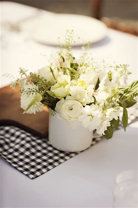 small white wedding reception centerpieces  wed
