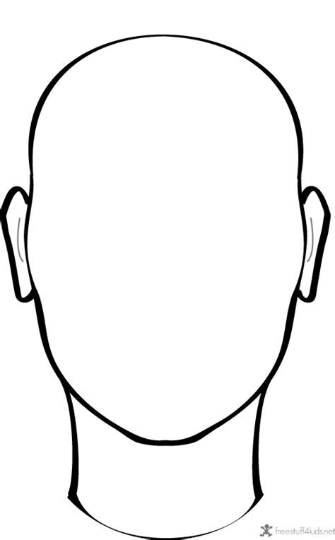 blank face  draw  daycare ideas face template art