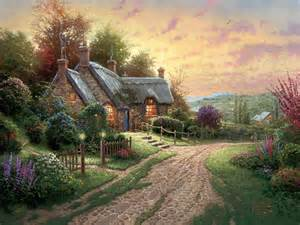 home interiors kinkade prints peaceful time a limited edition the