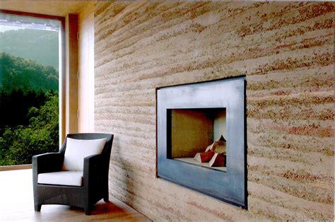 Nachhaltige Innenarchitektur  Claytec Stampflehmwand