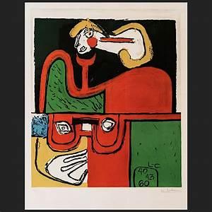 Le Corbusier Werke : portrait lithographie 1960 handsigniert le corbusier der k nstler ~ A.2002-acura-tl-radio.info Haus und Dekorationen