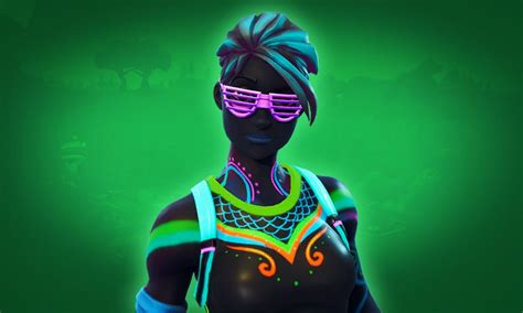 nitelite fortnite skin female neon party outfit