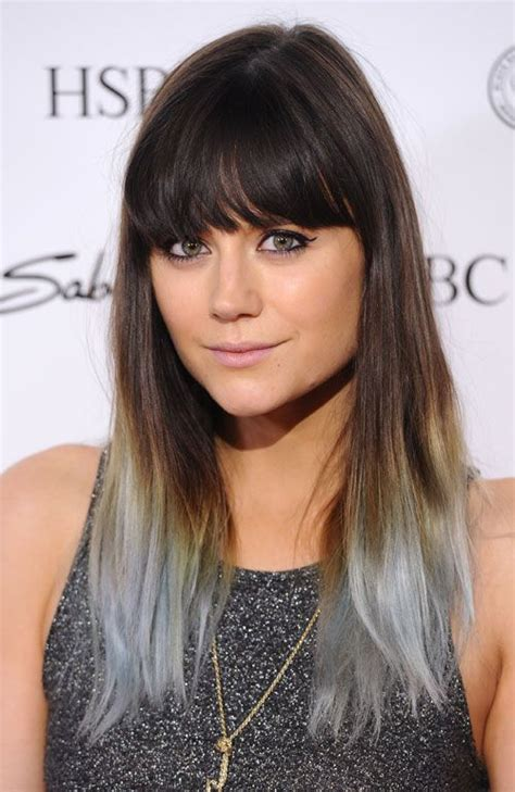 Dip Dye Silver Hairstyle Inspirations 2018