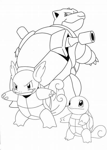 Pokemon Coloring Pages Printable Sylveon Sheets Blastoise