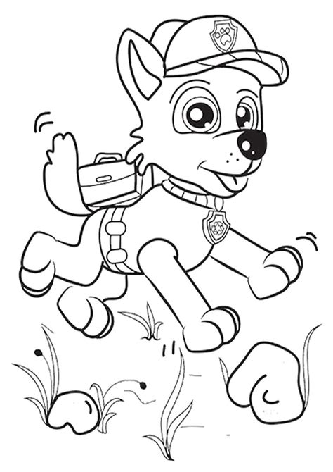 psi patrol kolorowanki do druku sketch coloring page