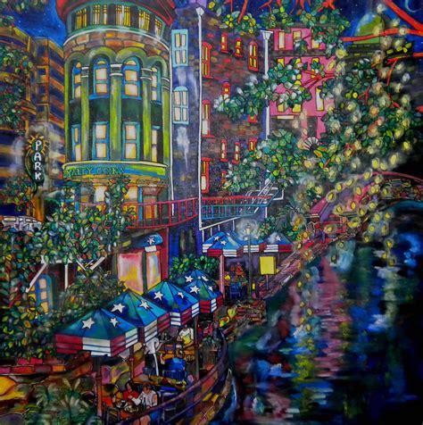 Night On The River Painting by Patti Schermerhorn